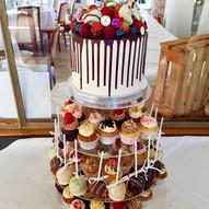 Cupcake Hochzeitstorte