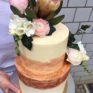 2 Etagen Hochzeitstorte