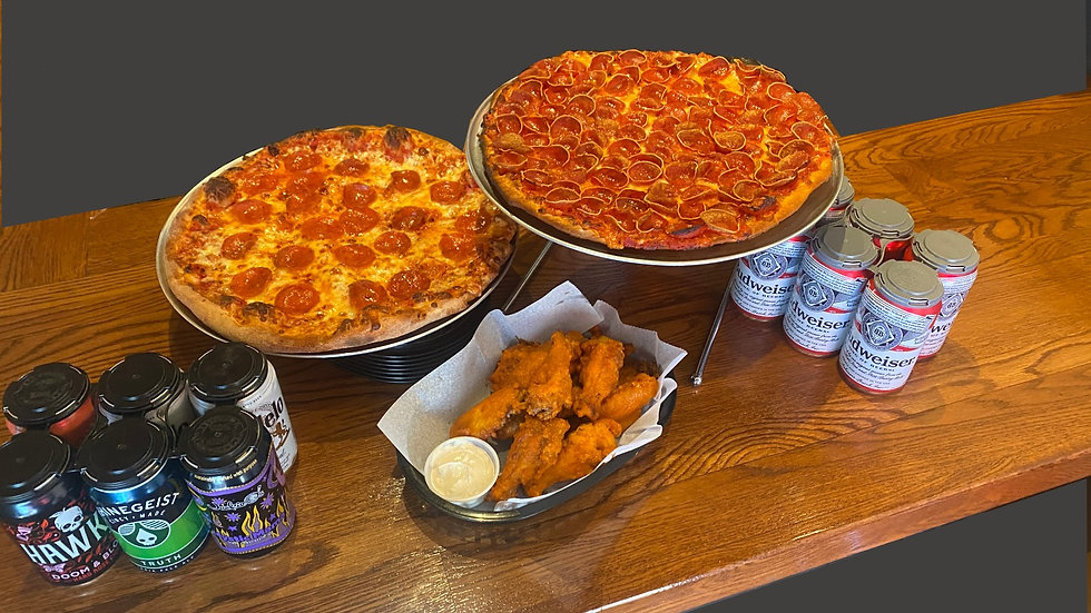 pizza made with quality ingredients, craft beer to go and delicious wings