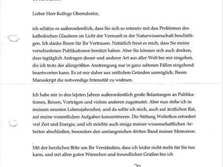 In memoriam Prof. Dr. Hans Küng