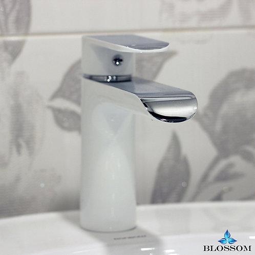 Blossom Single Handle Lavatory Faucet - Chrome/White F0111103