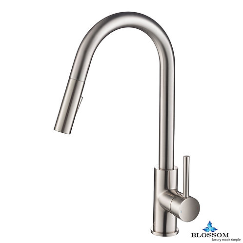 Blossom Single Handle Pull Down Kitchen Faucet - Brush Nickel F0120602