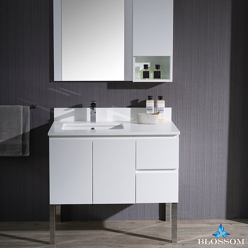 "Blossom Monaco 36"" Left Vanity Set with Chrome Legs 0003601LL9"