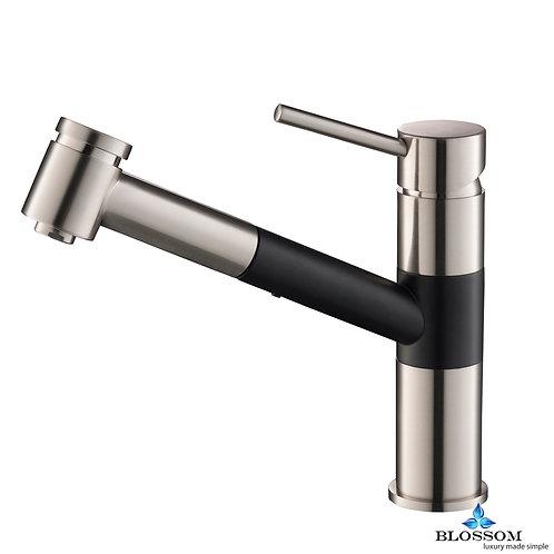 Blossom Single Handle Pull Down Kitchen Faucet  - Brush Nickel/Black F0120704