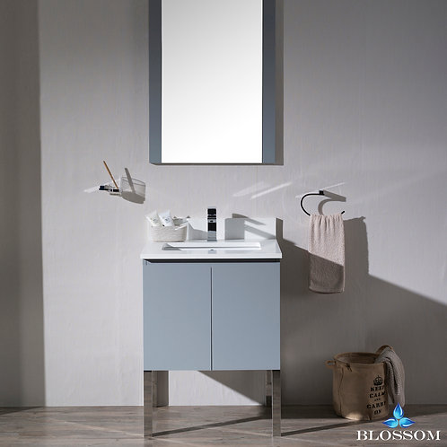 "Blossom Monaco 24"" Vanity Set with Mirror and Chrome Legs 0002415L9"