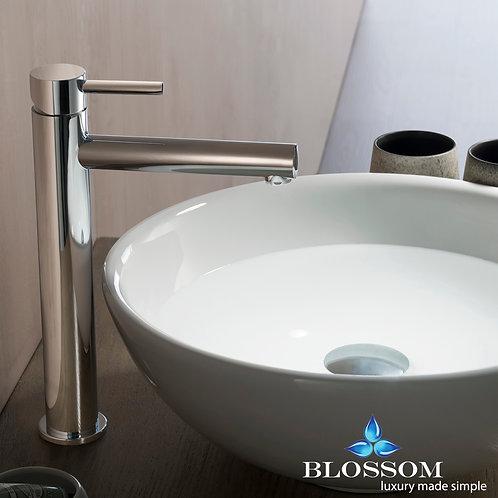 Blossom Single Handle Lavatory Faucet - Chrome