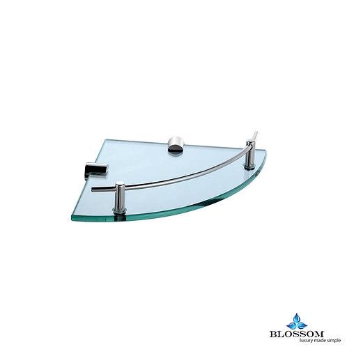 Blossom Corner Glass Shelf - Chrome BA0251001