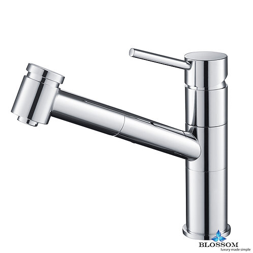 Blossom Single Handle Pull Down Kitchen Faucet - Chrome F0120701