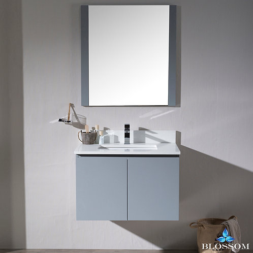 "Blossom Monaco 30"" Wall Mount Vanity Set with Mirror 0003015WHM"