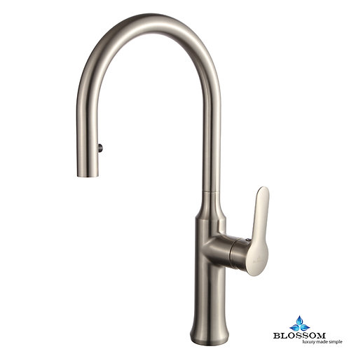 Blossom Single Handle Pull Down Kitchen Faucet - Brush Nickel F0120302