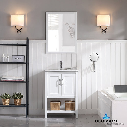 """Blossom Lucca 24"""" Vanity Set with Mirror 0172401M"""