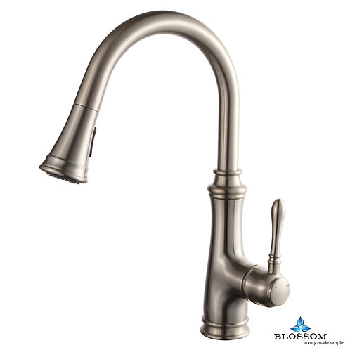 Blossom Single Handle Pull Down Kitchen Faucet - Brush Nickel F0120402