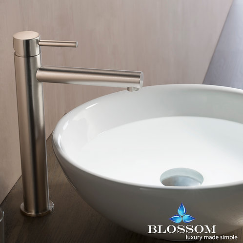 Blossom Single Handle Lavatory Faucet - Brush Nickel