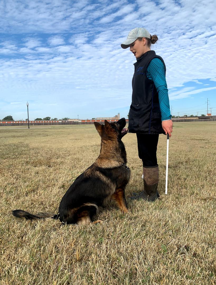 IGP/Schutzhund Trainer, Megan Clouse, & Abraxas Seahawk BH, CGC, TKN, TKI