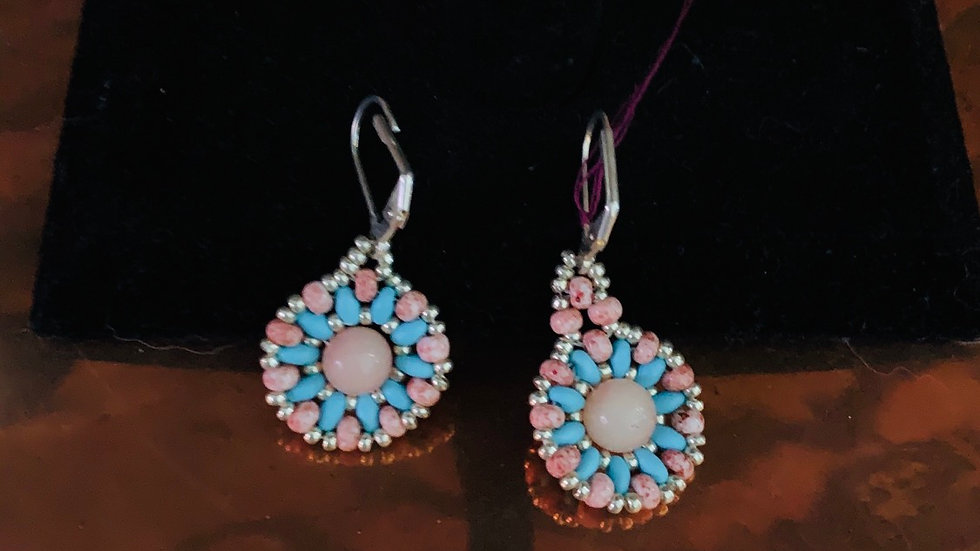 Pink & Turquoise earrings