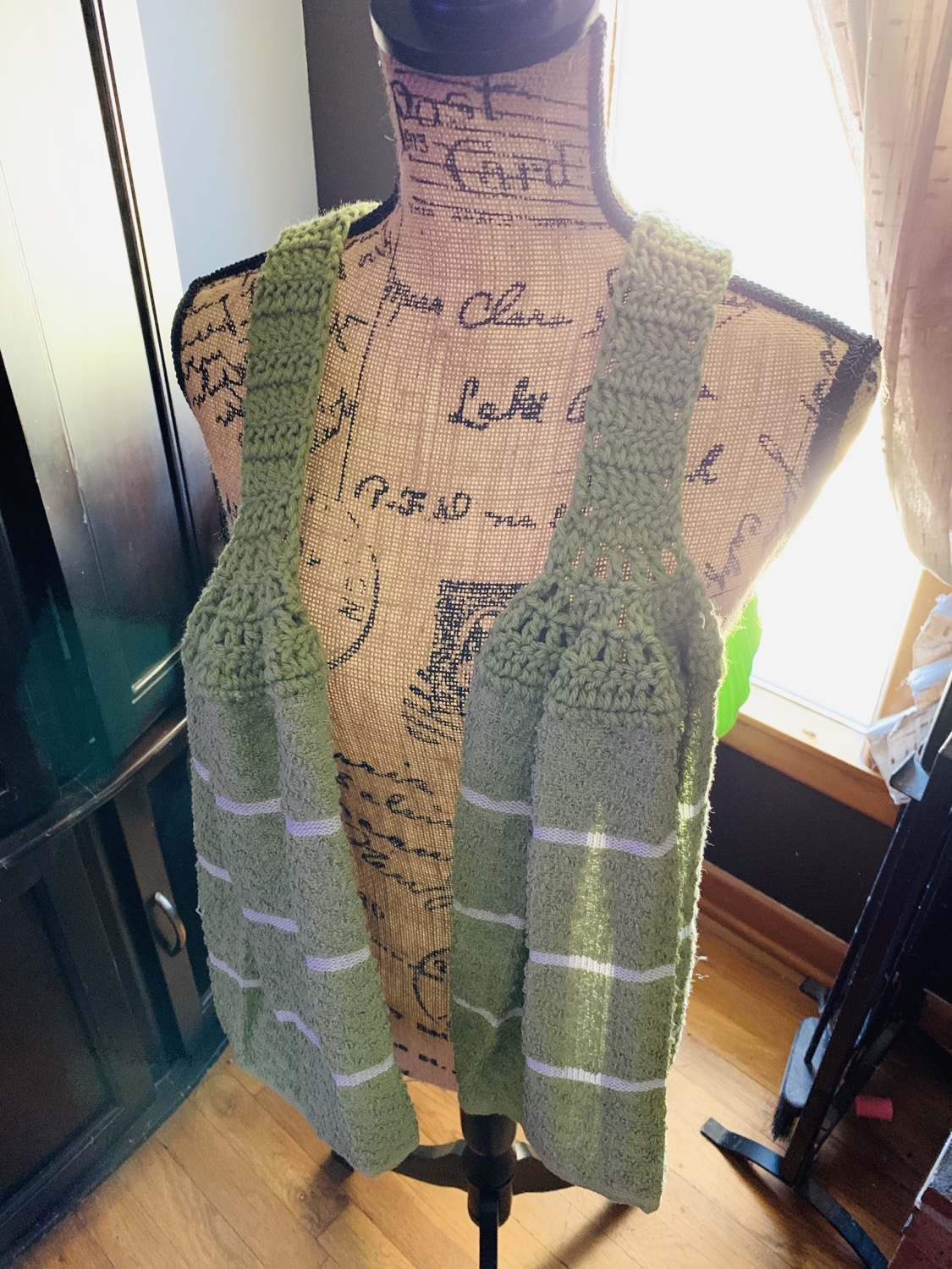 Green scarf towel