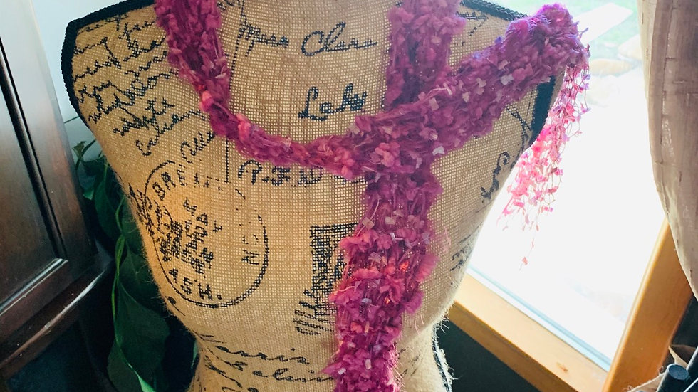 Pink Knit scarf