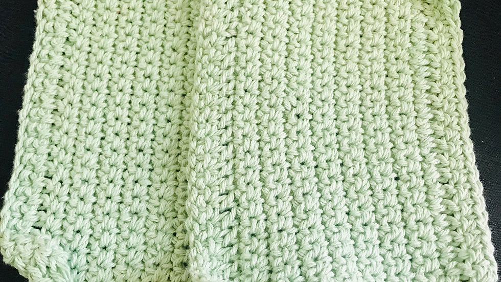 Light green washcloths  set of 2