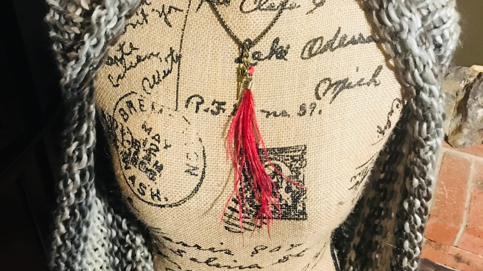 Red Feather Necklace