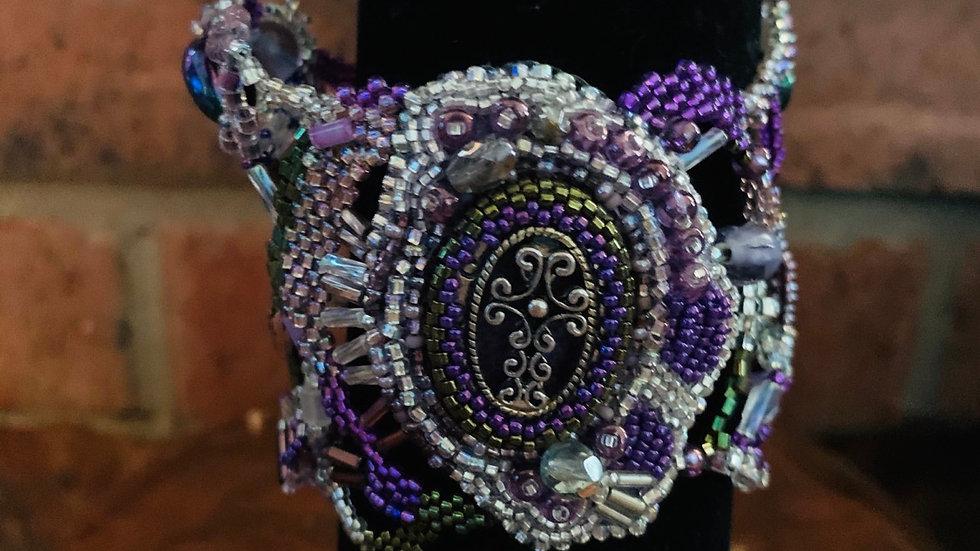 Purple bliss cross bracelet