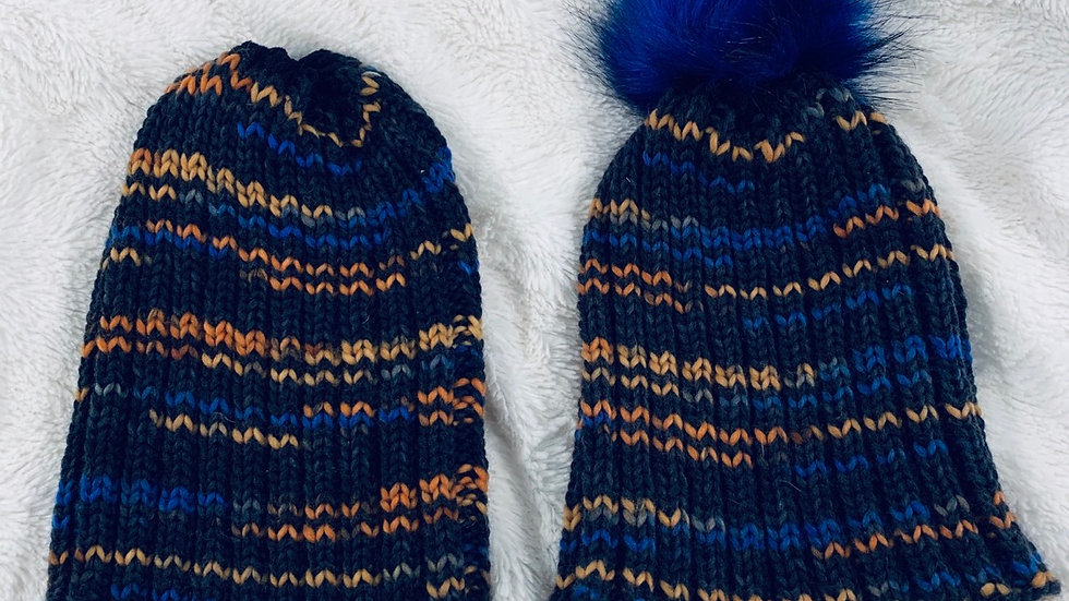 His and hers knit hats