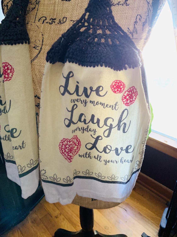 Thumbnail: Live Laugh Love scarf towel