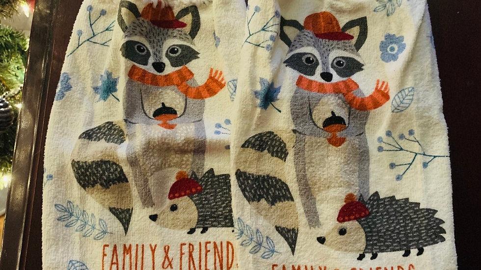 Family & Friends forever crocheted towel set