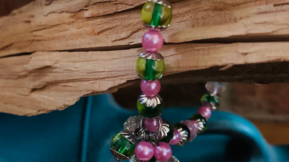 Whimsical beaded bracelet