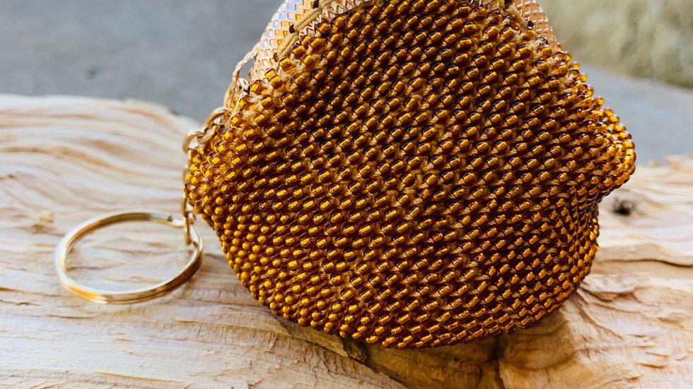 Crocheted beaded coin purse
