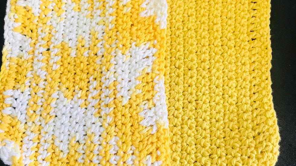 Sunburst washcloths set of 2