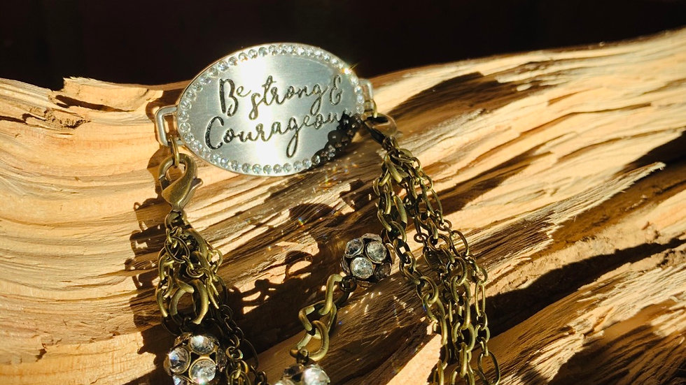 Be courageous & strong bracelet