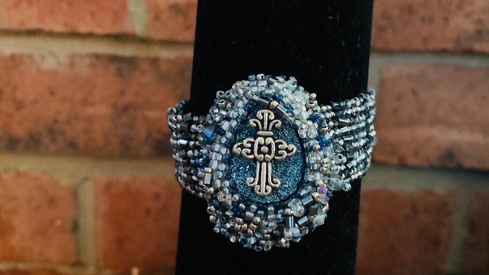 Royal Blue Cross bracelet
