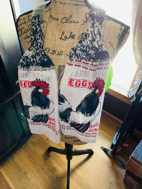 Farm fresh eggs scarf towel