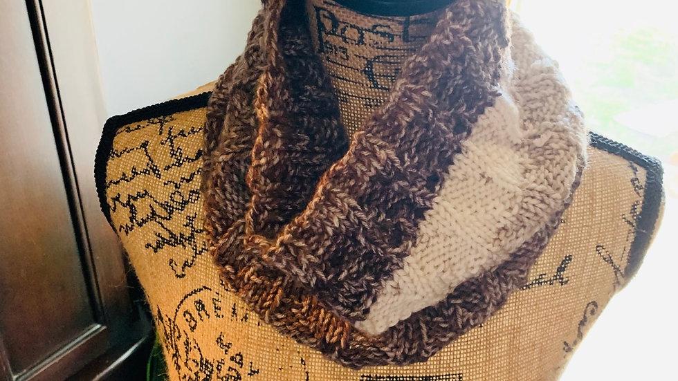 Cozy knit cowl neck scarf