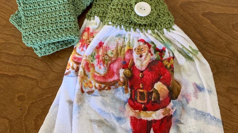Santa Towel set & washcloths