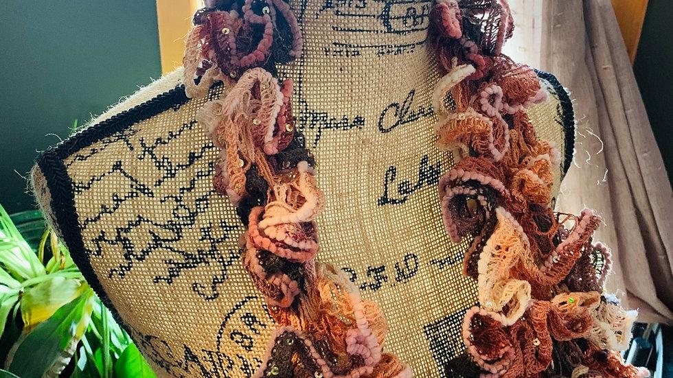 Ruffle knit scarf