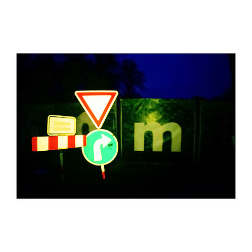 Signs, analog photography artwork by Robo Melo, Belami photographer, online gallery and store