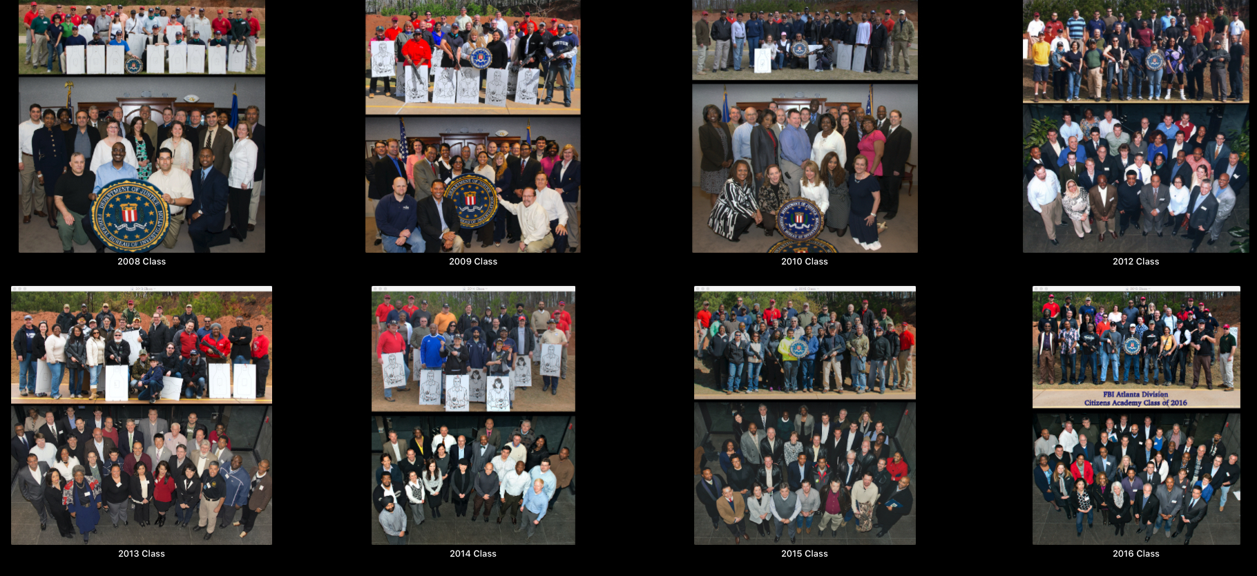 FBI Atlanta Division - 8 FBICA Classes