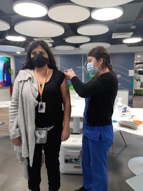 Operativo de vacunación contra la Influe