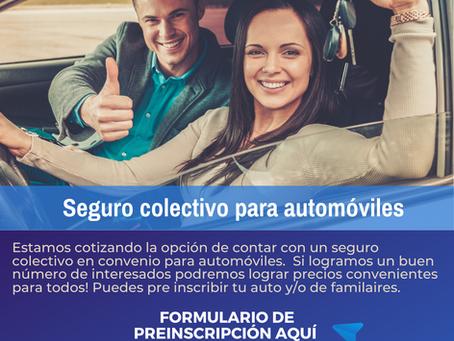 Pre inscripción: Seguro Colectivo para automóviles
