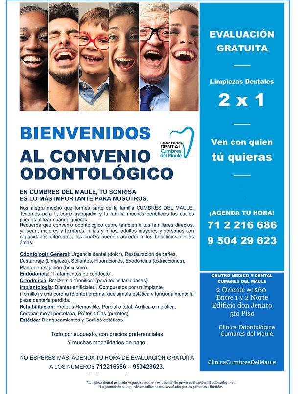 BIENVENIDOS AL CONVENIO ODONTOLOGICO - i