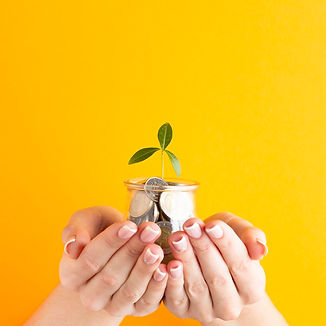 manos-sosteniendo-frasco-monedas-planta_
