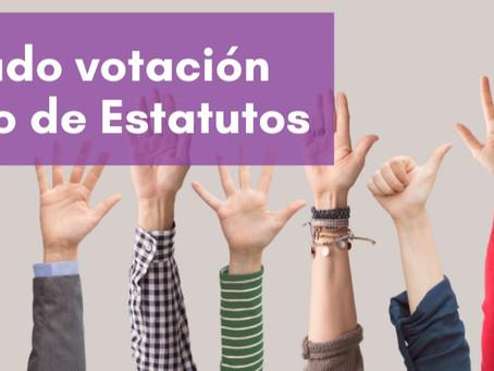 Revisa el resultado de la votación de cambio de estatutos