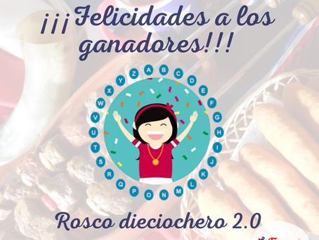 Felicidades a los ganadores y ganadoras del ROSCO dieciochero 2020