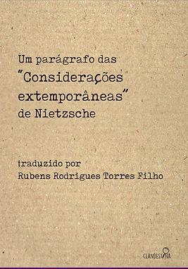"""""""Cosiderações Extemporânea"""" de Nietzsche"""