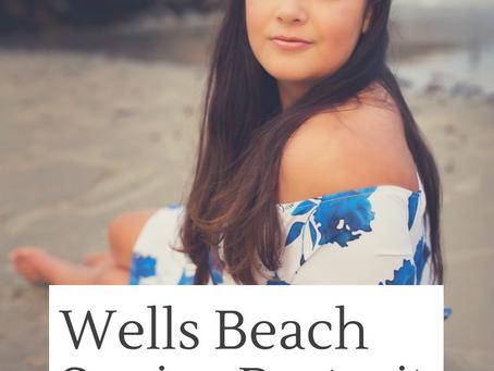 Wells Beach Senior Portrait Session