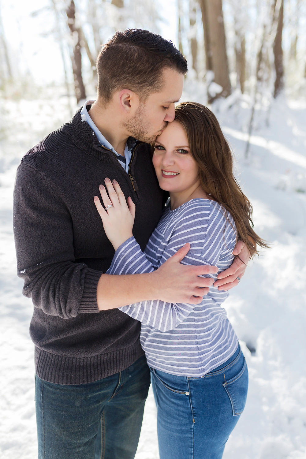 Winter elopement in Maine