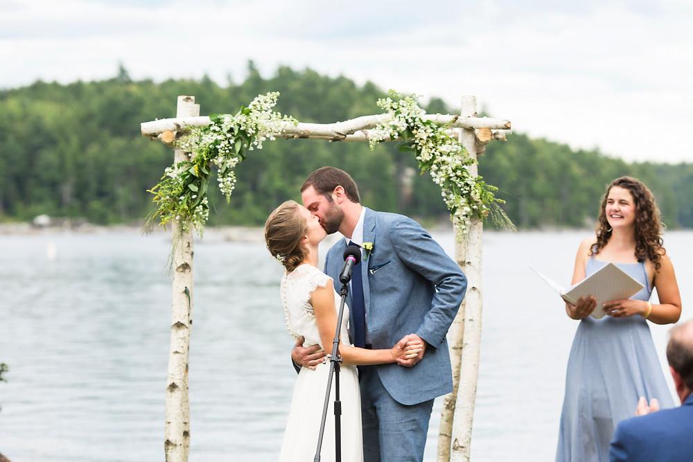 wedding photographer in Bangor Maine