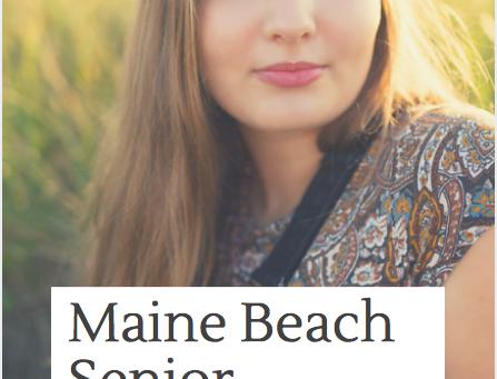 Wells Beach Senior Portrait Photography