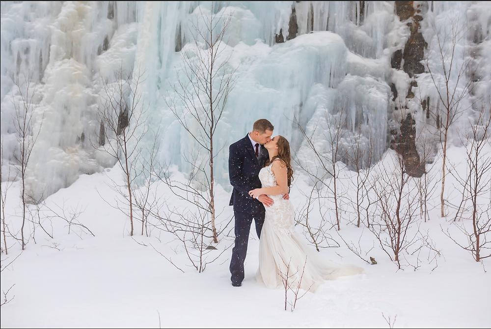 White Mountains Elopement Winter Wedding
